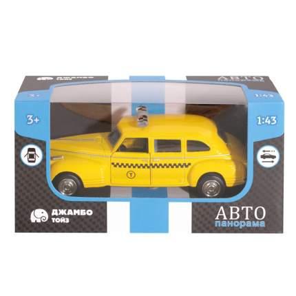 АВТОПАНОРАМА Машинка металлическая Такси, желтая, 1200078