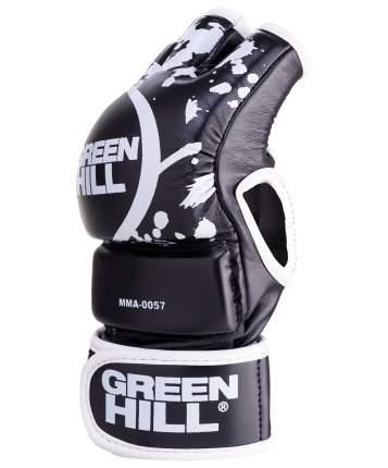 Перчатки для MMA Green Hill-0057, к/з, черные (M)