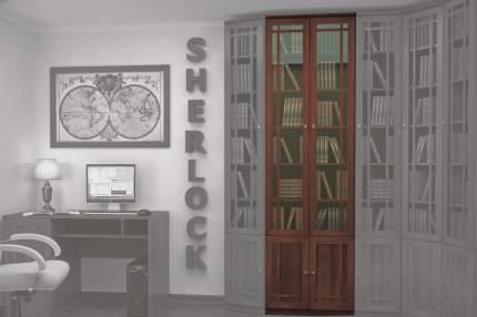 Шкаф книжный Hoff Sherlock 80095187 70,3х34,3х239,5, орех шоколадный