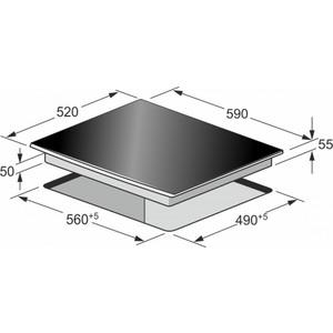 Встраиваемая варочная панель индукционная Kaiser KCT 67 FIW White