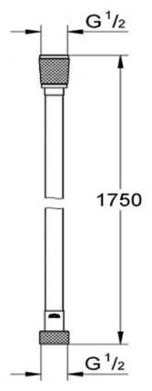 Silverflex Душевой шланг 1750 мм, цвет: темный гарфит, глянец