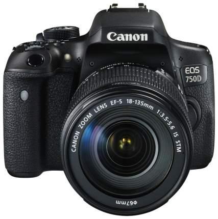 Фотоаппарат цифровой зеркальный Canon EOS 750D Kit 18-135 IS STM Black