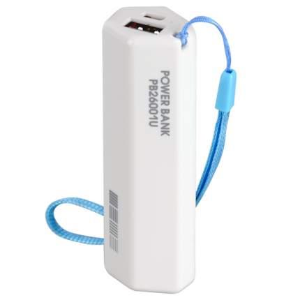 Внешний аккумулятор InterStep PB26001UB 2600 мА/ч (IS-AK-PB26001UB-000B20) White
