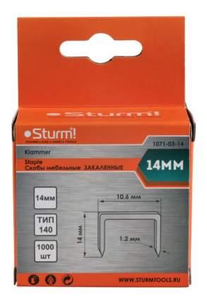 Скобы для электростеплера Sturm! 1071-03-14