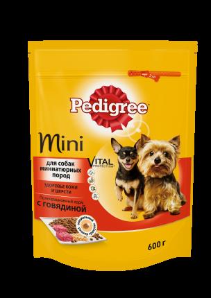 Сухой корм для собак Pedigree для миниатюрных пород, говядина, 0.6кг