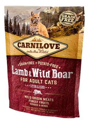 Сухой корм для кошек Carnilove Sterilised, для стерилизованных, ягненок, 0,4кг
