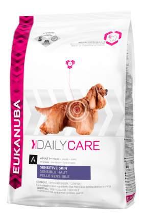 Сухой корм для собак Eukanuba Daily Care Sensitive Skin, овощи, 12кг