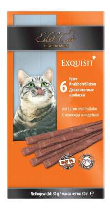 Лакомство для кошек Edel Cat Exquisit Деликатесные колбаски с ягненком и индейкой, 6шт 30г