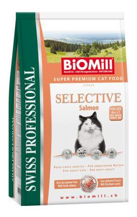 Сухой корм для кошек BIOMILL Swiss Professional Selective, норвежский лосось, 0,5кг