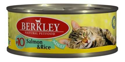 Консервы для кошек Berkley Adult Cat Menu, лосось, рис, 6шт, 100г