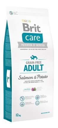 Сухой корм для собак Brit Care Grain-free Adult, все породы, лосось, картофель, 12кг