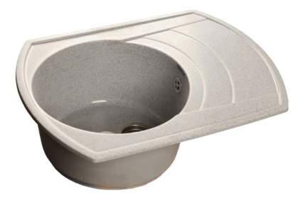 Мойка для кухни мраморная GranFest Rondo GF-R650L серый