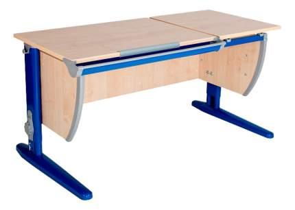 Парта Дэми Классик 120 см двойная столешница клен/синяя
