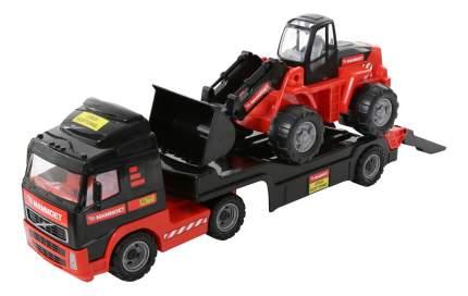 Автомобиль-трейлер с трактором-погрузчиком Полесье Mammoet Volvo