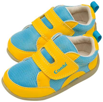 Ботинки Combi Casual Shoes желто-голубые р.12,5 см