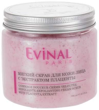 Мягкий скраб для кожи лица EVINAL с экстрактом плаценты, 190 мл