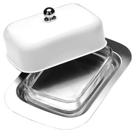 Масленка Mayer&Boch 21378-1 Белый, прозрачный, серебристый