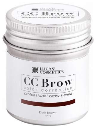 Хна для бровей LUCAS' COSMETICS CC Brow Dark Brown баночка 10 гр