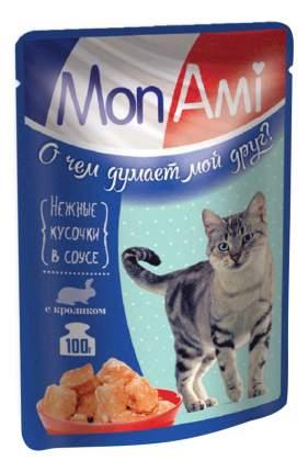 Влажный корм для кошек MonAmi, кролик, 100г