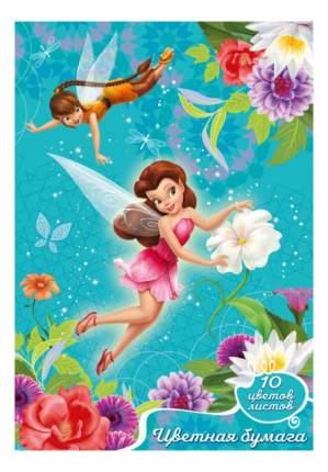Бумага для рисования Disney. Феи 2-сторонняя 10 цветов