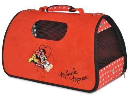 Сумка-переноска для животных Triol Disney Minnie, черно-красная, 50х28х29см