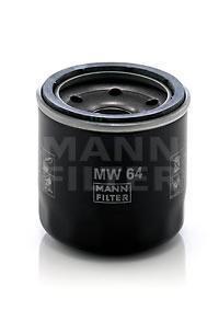 Фильтр масляный двигателя MANN-FILTER MW64