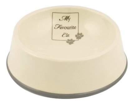 Одинарная миска для кошек Beeztees, керамика, серый, 0.3 л