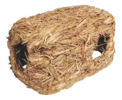 Домик для грызуна Triol стебли и травы, 12х16х25см, цвет желтый