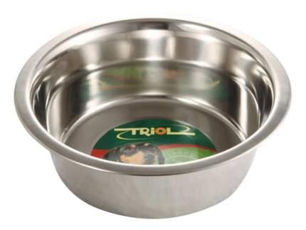 Одинарная миска для собак Triol, сталь, серебристый, 2.6 л