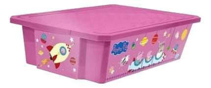 Ящик для хранения игрушек Plastic Republic X-Box Свинка Пеппа 30 л розовый