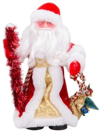 Кукла декоративная Яркий праздник Дед Мороз Красный с золотом 30 см