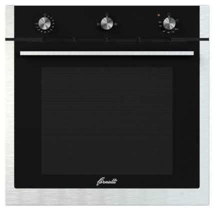 Встраиваемый газовый духовой шкаф Fornelli FGA 60 FALCONE Silver/Black