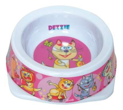 Одинарная миска для кошек DEZZIE, пластик, разноцветный, 0.15 л