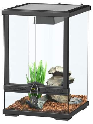 Террариум для рептилий Aquatlantis Smart Line, черный, 30 x 45 x 30 см