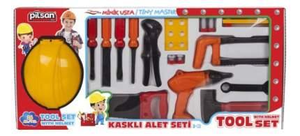 Набор игрушечных инструментов Pilsan с каской