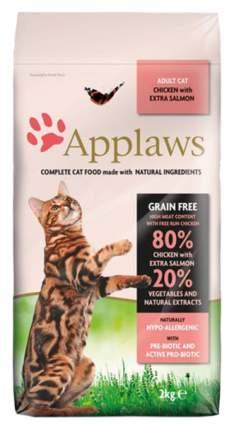 Сухой корм для кошек Applaws, беззерновой, курица, лосось, овощи, 2кг