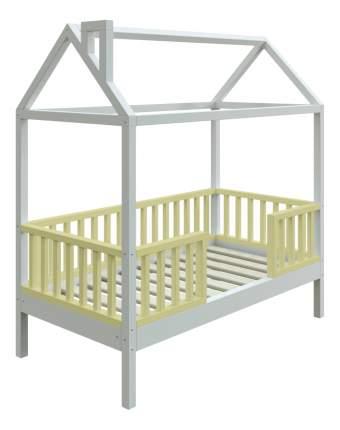 Кровать-домик Трурум KidS Сказка узкий бортик оливково-белая