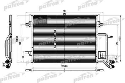 Радиатор кондиционера автомобильный PATRON PRS1101