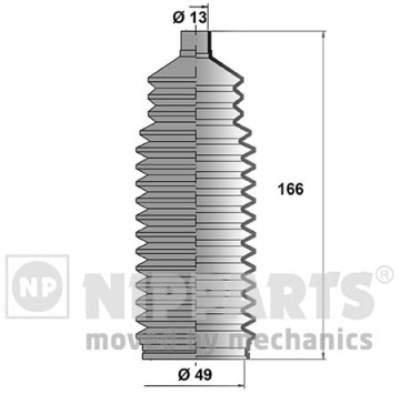 Пыльник рулевой тяги Nipparts J2840900