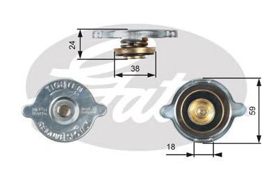 Крышка системы охлаждения Gates RC125
