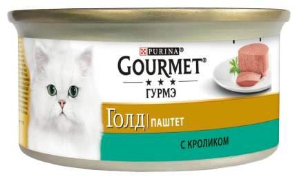 Консервы для кошек Gourmet Gold, кролик, 24шт, 85г