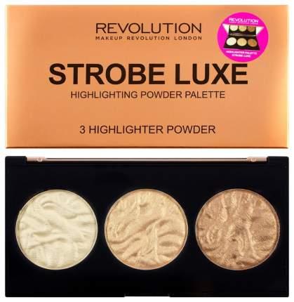 Хайлайтер Makeup Revolution Highlighter Palette Strobe Luxe 11,5 г