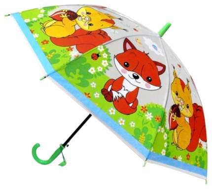 Детский зонт Играем вместе Лесные животные со свистком 50 см UM45T-LES