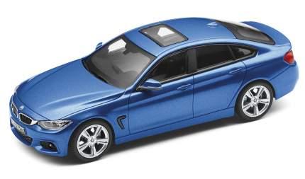 Коллекционная модель автомобиля BMW X4 Гран Купе (F36), Estoril Blue, 1:43, 80422348792