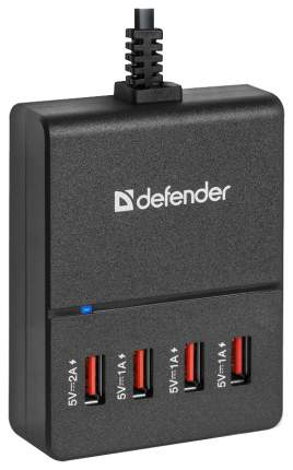 Сетевое зарядное устройство Defender UPA-40 4 USB 5А Black
