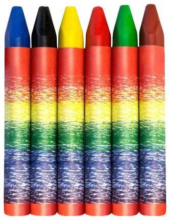 Карандаши цветные Луч Карандаши восковые трехгранные