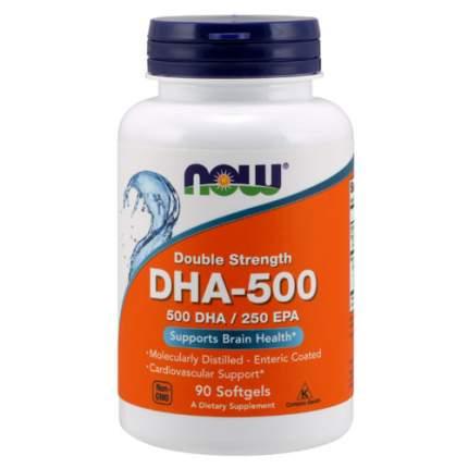 NOW DHA - 500 (500 DHA/250 EPA) (90 капсул) - ненасыщенные жирные кислоты