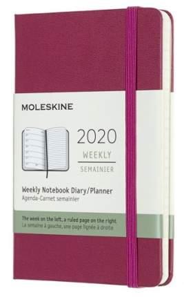 """Еженедельник датированный на 2020 год """"Classic"""" WKNT Pocket, 144 страницы, фуксия"""