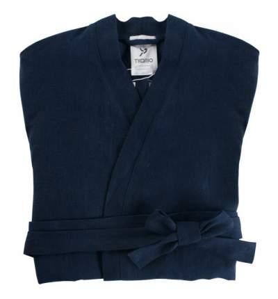 Халат из умягченного льна темно-синего цвета EssentialM
