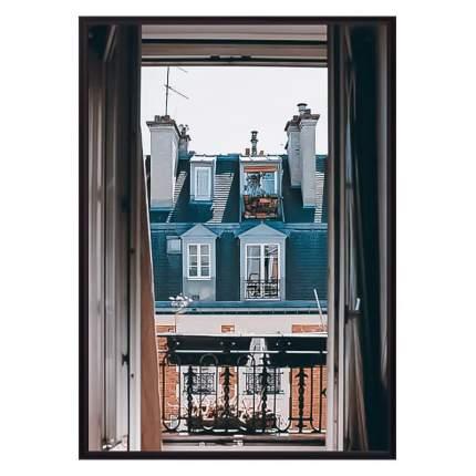 Постер в рамке Окно в Париж 40 х 60 см Дом Корлеоне